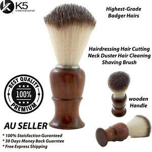 Soft Brown Neck Duster Barber Hair Cleaner Brush Salon Hairdressing Styling NEW