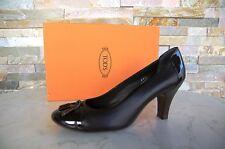 Tods Tod´s Pumps Gr 36,5 Schuhe Shoes Kalbsleder Lack braun neu ehem. UVP 325 €