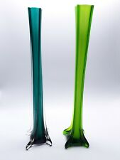 X2 Large Glass Lily Rose Vases