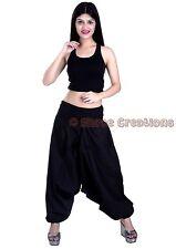 Women Cotton Black Harem Pants Yoga Baggy Hippie Genie Harem Trouser Casual Pant