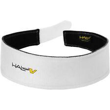 Halo Headband V Grip Hook and Loop Sweatband - White