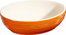 STAUB Céramique Bol Ensemble à salade 2 pcs. Coupe de fruits ovale orange 23 &