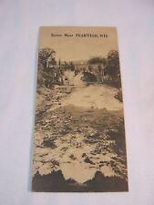 1914 SCENE NEAR PESHTIGO WI BRIDGE UNUSUAL SIZE ANTIQUE SMALL POSTCARD       T*