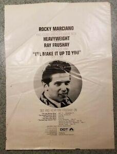 ROCKY MARCIANO promotes Ray Frushay-Dot Records-The Bob Hope Show ABC-TV