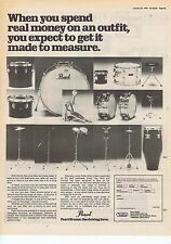 PEARL DRUMS ADVERT press clipping 1978 approx 30x40cm (28/1/78)