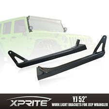 "52"" LED Light Bar Upper & Lower Mounting Brackets 76-96 Jeep Wrangler YJ CJ"