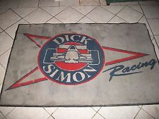 VINTAGE 80s DICK SIMON RACING LOGO DAYTONA ROLEX 24 RACE RUBBER BACK WORK MAT RU