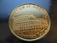 rome colosseum cities of destiny italy 1970 Mardi Gras Doubloon Coin new orleans