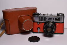 FED 5C Red body Soviet 35mm Rangefinder Camera, Industar-61 L/D (2.8/55)