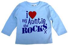 Camiseta azul para niñas de 0 a 24 meses