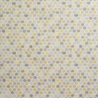 Yellow 3D Geometric Honeycomb Hexagon Wallpaper Modern Grey White Beige Holden