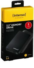 Intenso HDD External Hard Drive Memory Drive 2.5 Inch 1TB USB 3.0 Black