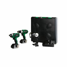 Hitachi KC18DHLN HXP 18V Cordless Lithium-Ion Compact Pro 3-Tool Combo Kit New