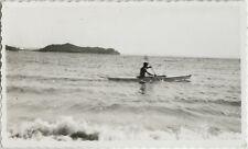 PHOTO ANCIENNE - VINTAGE SNAPSHOT - MER BATEAU CANOË - SEA BOAT KAYAK