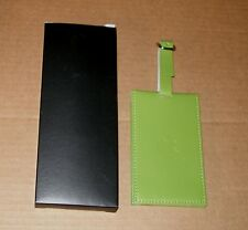 Apple Logo Green Leather Luggage Tag by Apple Computer  - NEW in Box