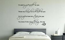 Bruno Mars Grenade lyrics musique mur art sticker autocollant chambre salon