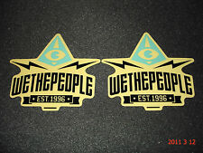 "2 Authentic Wethepeople BMX Bici ""EST.1996"" Adesivi/Decalcomanie #40 aufkleber"