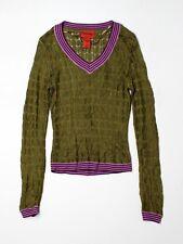 Women Missoni for Target Pointelle Green V Neck Sweater Size XS
