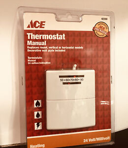 ACE 42350 Mechanical White Thermostat Heating Only 24 Volt BRAND NEW