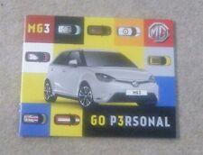 MG brochure imprimée septembre 2013-Go personnelle avec le MG3