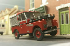 1:76 OO Scale Model Land Rover Series 1 86 88 SWB Fire Tender Engine Oxford
