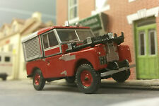1:76 Escala OO Modelo Land Rover Serie 1 86 88 SWB Fire Tender MOTOR OXFORD