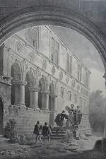 Manoir d' ANGO LITHOGRAPHIE ORIGINALE  ENGELMANN 1822 NORMANDIE