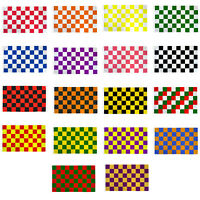 """/""""RED /& WHITE CHECKER/"""" flag 2x3 ft polyester race racing check"""