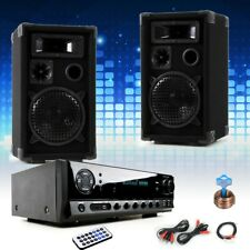 PA Party DJ Set Musik Boxen Verstärker USB MP3 SD Bluetooth Fernbedienung