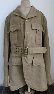 Scots Guards Offcer Khaki Drill Uniform Jacket Doublet and Belt