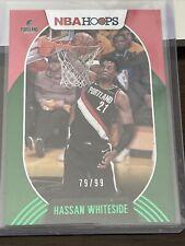 2020-21 NBA Hoops #187 Hassan Whiteside - Portland Trail Blazers Green /99
