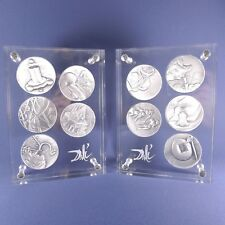 Salvador Dali The Ten Commandments Sterling Silver Medals