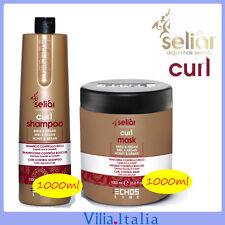 Kit per capelli ricci - Shampoo 1000ml + Maschera 1000ml Seliar Curl