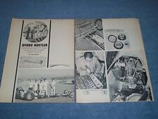 "1965 Vintage Front Engine Dragster Article ""Hydro Hustler"" Woody Gilmore"