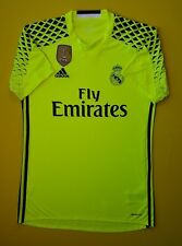 b363b6d94 5+ 5 Real Madrid jersey SMALL 2016 2017 goalkeeper shirt B41453 soccer  Adidas