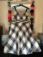 Monsoon Check Plus Size Sleeveless Dresses for Women