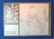 SALE: 1962 Topps printers plate proof Fran Tarkenton RC error! Vikings & Cowboys