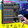6 Channels 6 Music Modes Audio DJ Mixer USB bluetooth Mixing Console  Q