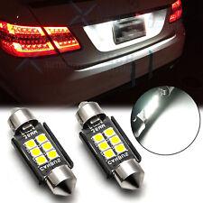 White Canbus 6418 6411 36mm Led License Plate Tag Light Bulbs For Mercedes Audi