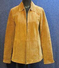 Coldwater Creek Women's NWOT Small Rust Brown Suede Coat Zipper Front