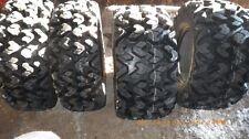 (2) New 25x8-12 & (2) 25x10-12 Sedona Rip Saw 6-Ply Radial ATV / UTV Tire Set