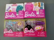 Barbie Cooking Spa Supplies Set Lot of 4 NEW Breakfast Pedicure Accessories Doll