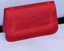Y & S Original Handbag Purse clutch RED lined crossbody strap magnetic close