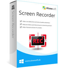 Screen Recorder WIN Aiseesoft dt.Vollversion-lebenslange Lizenz  ESD Download
