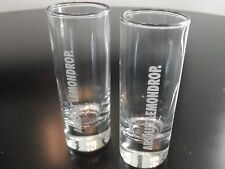 2 ABSOLUT VODKA LEMONDROP SHOT SHOOTER GLASSES BAR WARE