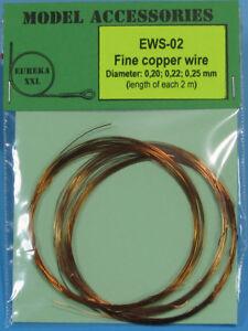 Eureka XXL Fine Copper Wires (Dia. 0.20mm/0.22mm/0.25mm, each length: 2m)