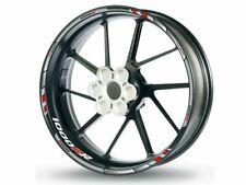 Felgenrandaufkleber für BMW S1000RR chrom-weiß-rot 2