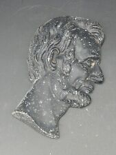 More details for abraham lincoln cast metal profile 19th century