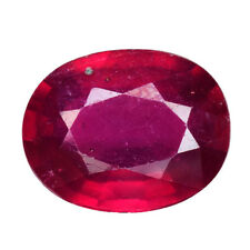 3.226CTS FORMIDABLE TOP LUSTER RED NATURAL RUBY OVAL LOOSE GEMSTONES