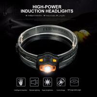 3000lm LED IR Sensor Induction Headlamp Headlight Head Light Flashlight Lamp